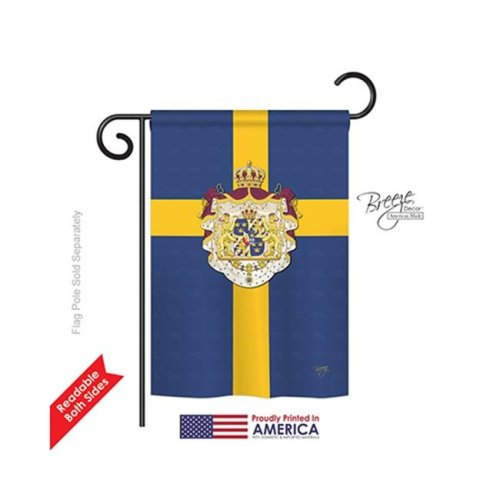 Breeze Decor 58091 Sweden 2-Sided Impression Garden Flag - 13 x 18.5 in.