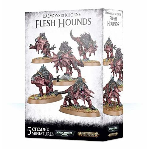 Games Workshop - Warhammer Age of Sigmar - Daemons of Khorne Flesh Hounds