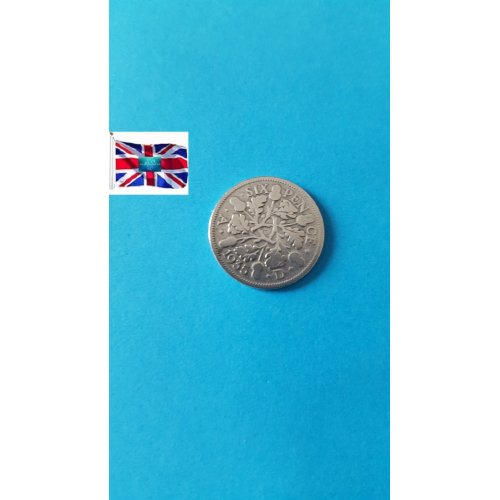 """Great Britain 1935 """"6 Pence - George V 4th coinage"""