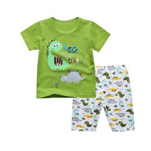 Boys Dinosaur Pajamas Cotton Kids Clothes Short Sets Children Sleepwear