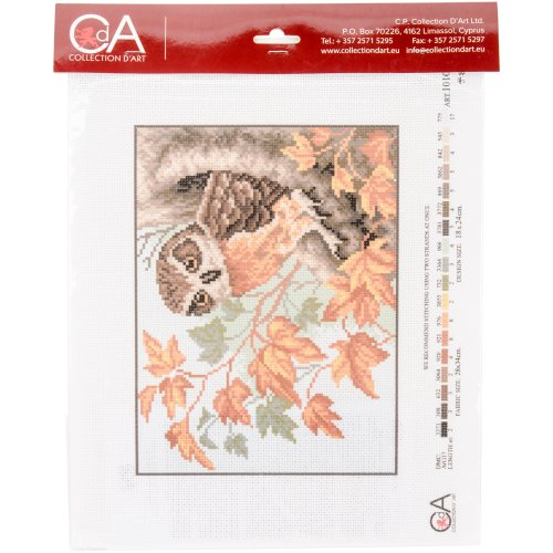 Collection D'art Stamped Cross Stitch Kit 28X34cm-Owl