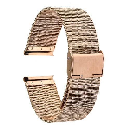 TRUMiRR 20mm Watch Band Milanese Stainless Steel Strap Universal for Samsung Gear S2 Classic (SM-R732/R735),Moto 360 2 42mm Men 2015,Pebble Time...