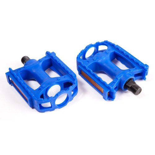 """ROYAL BLUE Adults / Mountian LARGE Bike / bicycle PEDALS - 9/16"""" easy to fit"""