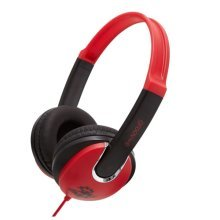 Groov-e Kids DJ Style Headphone - Red/Black (GV590RB)