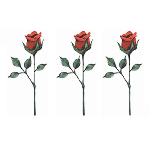 3 Sheets Small Colorful Rose Temporary Tattoos Body Art Stickers Makeup Fake Tattoos Women Tattoo Sticker