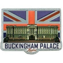 London Buckingham Palace Fridge Magnet Union Jack Flag Souvenir Foil Stamped