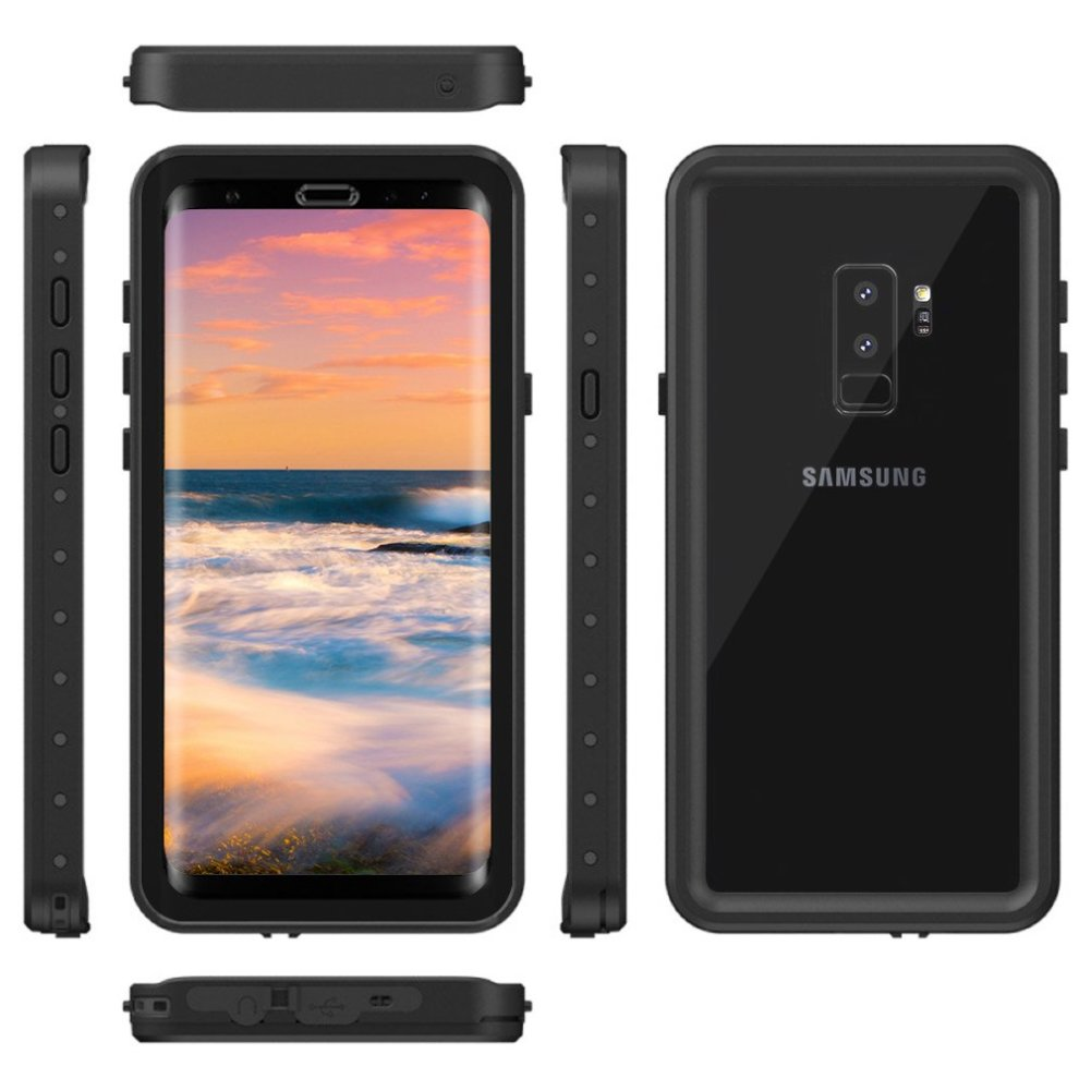 cheaper 84e28 84fbd Galaxy S9 Plus Waterproof Case, Snewill Underwater Full Sealed Clear Case  Cover Snowproof Shockproof Dirtproof IP68 Certified Waterproof Case for...