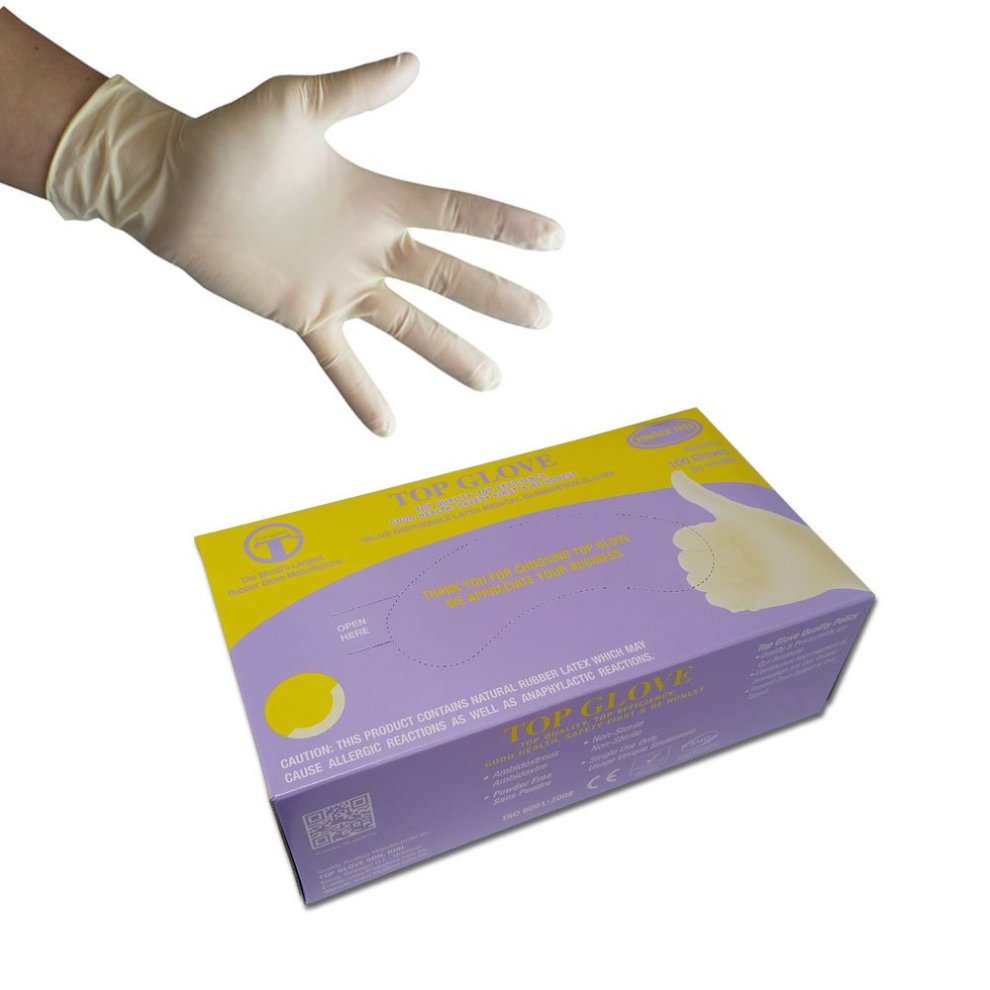 S Disposable WHITE Powder Free Nitrile Medical Gloves Box 100 Dental Veterinary Clinical Laboratory