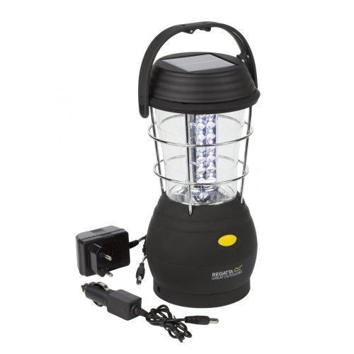 Regatta Helia 36 Solar Lantern with EU Plug - Black