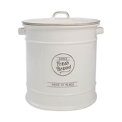 TG Pride of Place Bread Crock Bin Ceramic White 18088