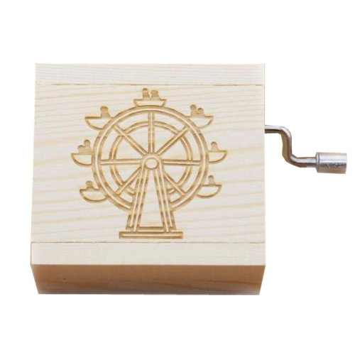 Mini Hand Crank Music Box Wooden Music Box Ferris Wheel