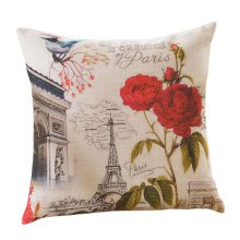 Concise Style Flowering Plant Throw Pillow Cushion Fashion Back Cushion Cover C