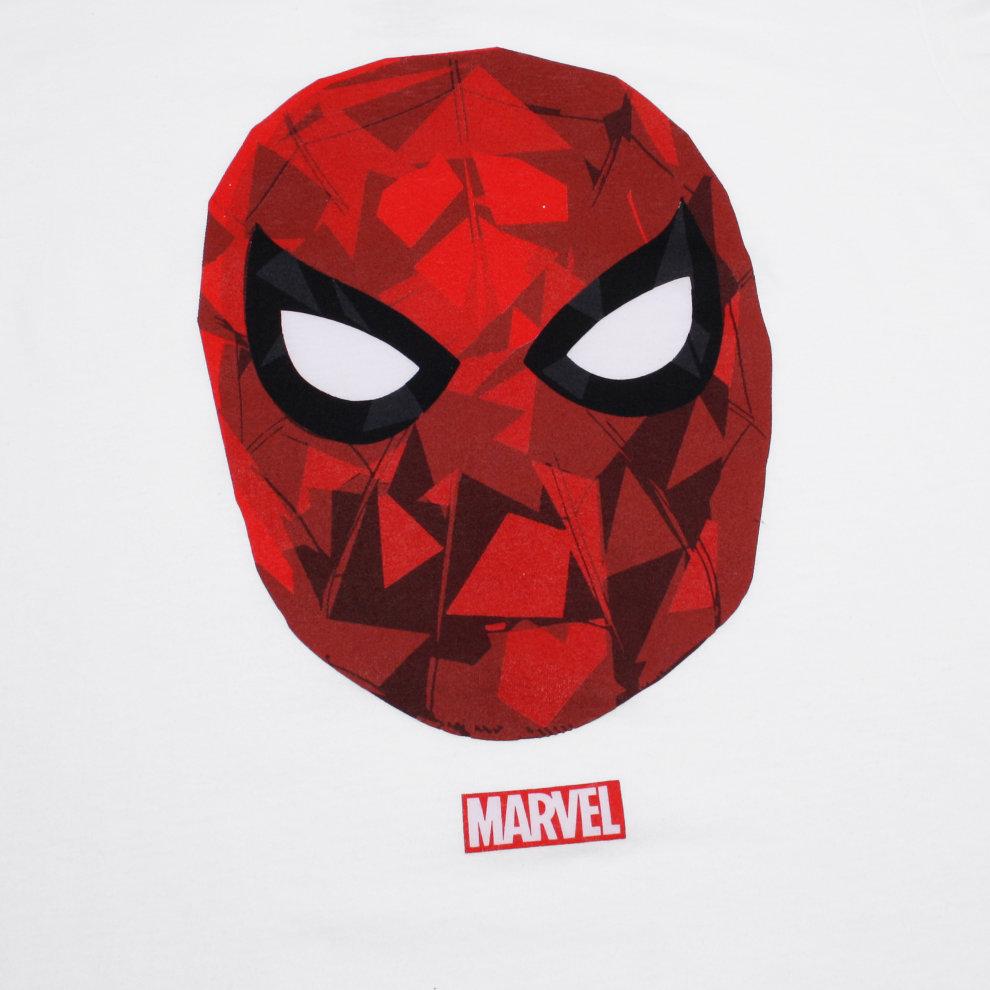 429f289f ... Marvel Spiderman Poly Mens T-shirt White - 2 ...