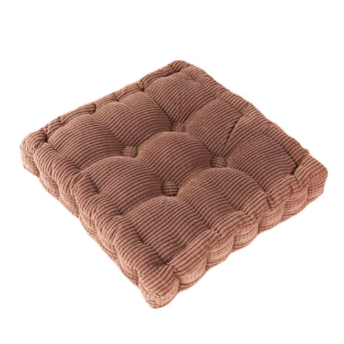 Square Thicken Cushion Tatami Floor Cushion Office/Car Pillow-Coffee