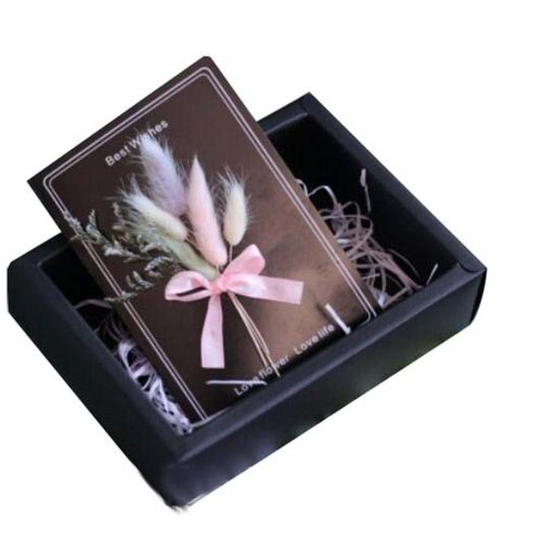 Girly &Concise Handmade Dried Flowers Thank You Cards for Every Occasion