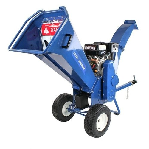 Hyundai HYCH1500E-2 14hp Petrol Powered 4-Stroke Electric Key Start Heavy Duty Wood Chipper