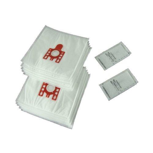 10 X Miele FJM Type Vacuum Cleaner Hoover Dust Bags & Filters Cat Dog Red Tab