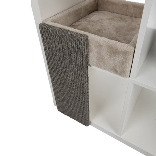 Cat Bed for Shelves with Scratching Board
