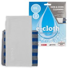e-Cloth Hob/Oven Kitchen Pack 2 Microfibre Clean & Polishing Cloths No Chemicals