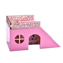 [D] Hamster Wooden Toy Hamsters DIY Habitat Pet Supplies for Small Animal