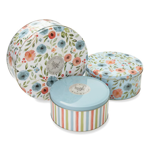 Cooksmart Country Floral Set of 3 Round Cake Tins