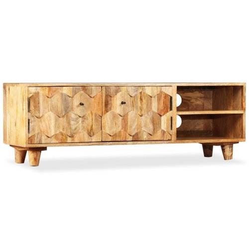 TV Cabinet Solid Mango Wood 118x35x40 cm