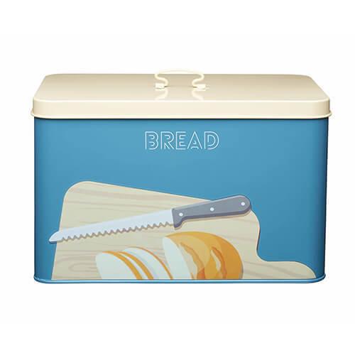 "KitchenCraft Art Deco-Style Carbon Steel Airtight Bread Bin with Lid, 33 x 21 x 20 cm (13"" x 8.5"" x 8"") - Multi-Colour"