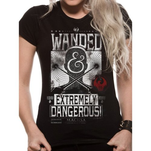 Fantastic Beasts -  fantastic beasts wanded tshirt poster black mens unisex official dangerous where find them new