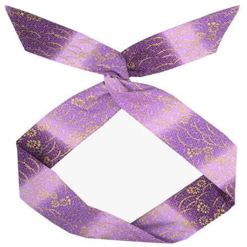 Adjustable Bow Japanese Styles Cross Hair Band Headband For Women, Purple,#4