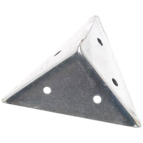 Bulk Hardware BH01162 Zinc Plated Pyramid Corner Angle Bracket Brace Plate, 45 mm (1.3/4 inch) - Pack of 4