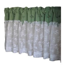 Green/Lace - Short Kitchen Curtain Half Window Curtain Cafe Curtain Tier Curtain
