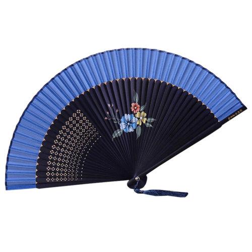 Retro Chinoiserie Silk Fan Hand Fan Beautiful Folding Fan Handheld Fan I