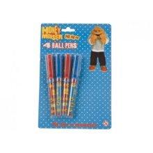 Pack Of 4 Honey Monster Quality Ball Pens - Kids Fun Novelty Stationary School - Honey Monster Ball Pens 4 Pack Kids Fun Novelty Pens Stationary
