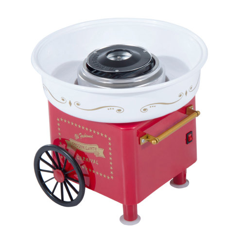 HOMCOM Electric Cotton Candy Maker Candy Floss Machine Cart Kitchen DIY 450W Red
