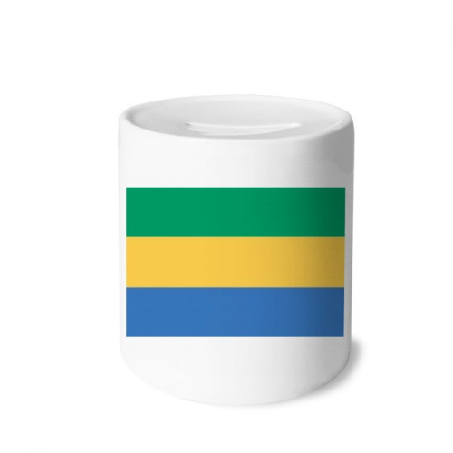 Gabon National Flag Africa Country Money Box Saving Banks Ceramic Coin Case Kids Adults