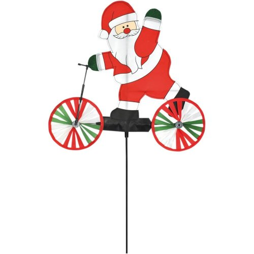 Santa on a Scooter Windspinner