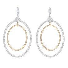 Swarovski Gilberte Hoop Pierced Earrings - White - 5278287