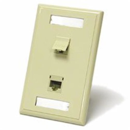 Cables To Go 27417 DUAL CAT 5E RJ45 CONFIGURED WALL PLATE - IVORY