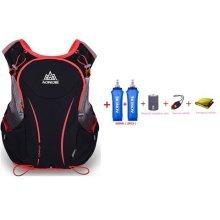 AONIJIE 5L Lightweight Waterproof Nylon Running Backpack Marathon Cycling Bags Running Vest Kettle Sport Bag + 2PCS 500ML Water Bottles