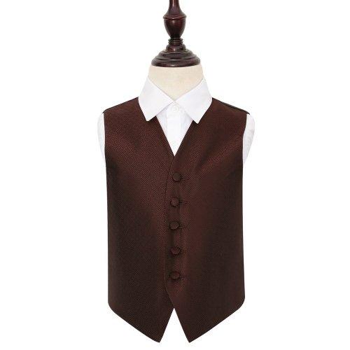 Burgundy Greek Key Wedding Waistcoat for Boys 22'