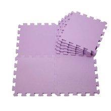 Quality Waterproof Baby Foam Playmat Set-9pc /Purple