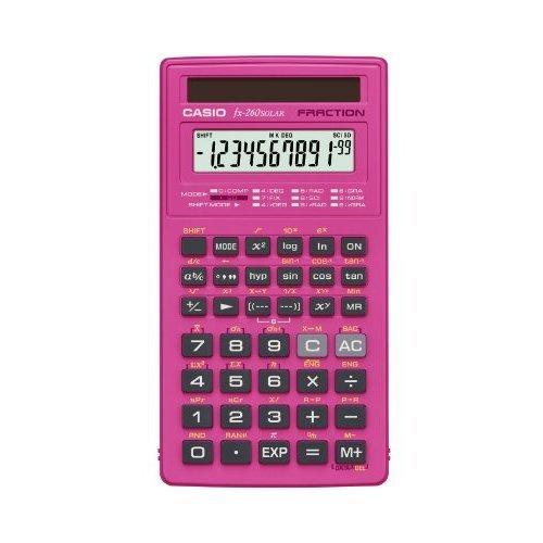 Casio fx 260 SOLAR Scientific Calculator Pink