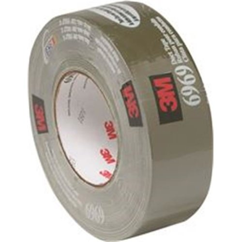 3M 1028560 Extra Heavy-Duty 6969 Duct Tape, Black - 1.88 in. x 60 Yards