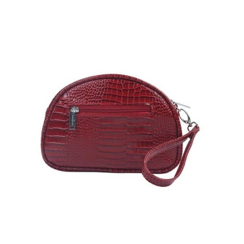 Picnic Gift 7422-RD Pina Colada-Clutch Insulated Cosmetics Bags with Removable Wristlet, Red Croc