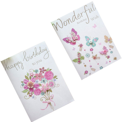 Set of 10 Lovely Cards Thank You Greeting Card Assortment,Flowers&Butterflies