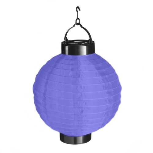 Solar Brite Deluxe Solar Powered Chinese Hanging Lantern Blue Free to Run No Running Costs - 20cm