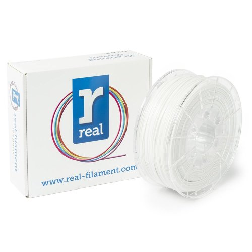 Real Filament 8719128328850 Real PETG, Spool of 1 kg, 1.75 mm, Opaque White
