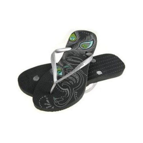 Havaianas Peacock Dark Grey Flip Flops UK 1-2