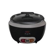 Tefal Cooltouch Rice Cooker, Steam Basket, Glass lid, Removable Bowl - Black (Model No. RK1568UK)