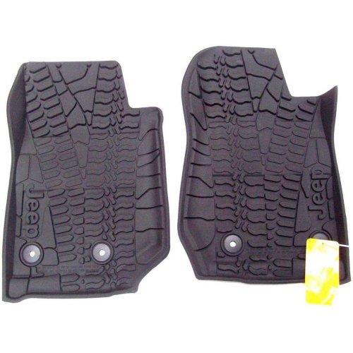 Jeep Wrangler Genuine New Both Front Logo Rubber Floor Mats 82213885